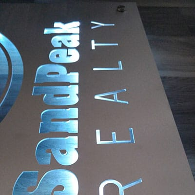 Laser Cut LED Sign